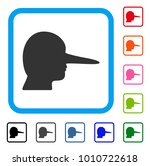 lier icon. flat gray pictogram...