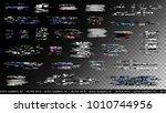 glitch elements set. computer... | Shutterstock .eps vector #1010744956