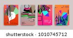 covers templates set with... | Shutterstock .eps vector #1010745712