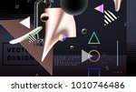 abstract background with... | Shutterstock .eps vector #1010746486