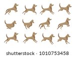 cute dog running sprite for... | Shutterstock .eps vector #1010753458