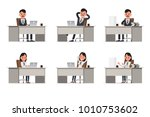 business people poses action... | Shutterstock .eps vector #1010753602