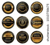 set of modern seal badges and... | Shutterstock .eps vector #1010758675