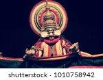 a kathakali performance in...   Shutterstock . vector #1010758942