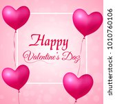 valentine's day greeting card... | Shutterstock .eps vector #1010760106