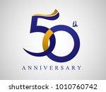 50 years anniversary logo... | Shutterstock .eps vector #1010760742