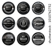 silver seal quality labels set... | Shutterstock .eps vector #1010762752
