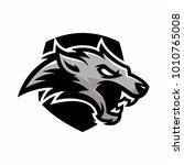 animal head   wolf   vector... | Shutterstock .eps vector #1010765008