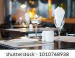 hotel cafeteria  empty seats | Shutterstock . vector #1010768938