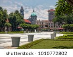 central plaza with view of... | Shutterstock . vector #1010772802