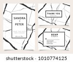 wedding invitation and thank... | Shutterstock .eps vector #1010774125