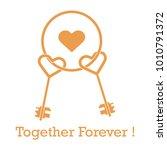 keys in heart shape and the...   Shutterstock .eps vector #1010791372