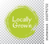 locally grown food icon painted ... | Shutterstock .eps vector #1010792722