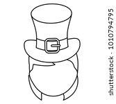 irish top hat icon | Shutterstock .eps vector #1010794795