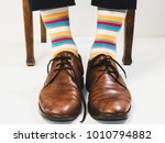 men's feet in stylish shoes and ... | Shutterstock . vector #1010794882