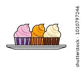 sweet cupcakes icon | Shutterstock .eps vector #1010797246