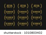 movie award best feature film... | Shutterstock .eps vector #1010803402