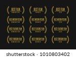 movie award best feature film... | Shutterstock .eps vector #1010803402