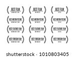 movie award best feature film... | Shutterstock .eps vector #1010803405