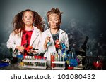 two children making science... | Shutterstock . vector #101080432