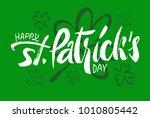happy st.patrick's day... | Shutterstock .eps vector #1010805442
