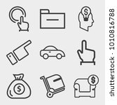 business outline vector icon... | Shutterstock .eps vector #1010816788