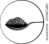 spoonful of sugar cube icon... | Shutterstock . vector #1010821882