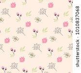 flower illustration pattern | Shutterstock .eps vector #1010837068