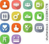 flat vector icon set   man... | Shutterstock .eps vector #1010841778