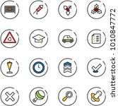 line vector icon set   fenced... | Shutterstock .eps vector #1010847772