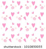 romantic seamless pattern with... | Shutterstock .eps vector #1010850055