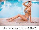 beautiful sexy luxurious girl... | Shutterstock . vector #1010854822