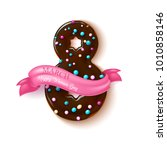 8 march happy women day... | Shutterstock .eps vector #1010858146