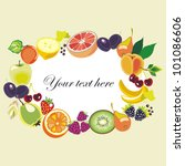 various fruits  border   vector ... | Shutterstock .eps vector #101086606