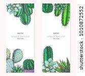 set of vertical floral... | Shutterstock .eps vector #1010872552