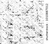 grunge black and white pattern. ... | Shutterstock . vector #1010887012