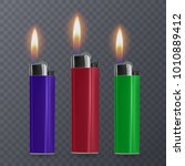 set of cigar lighters in... | Shutterstock .eps vector #1010889412