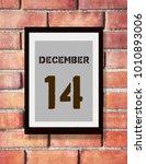 december 14th. 14 december...   Shutterstock . vector #1010893006
