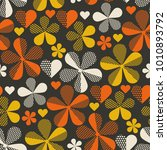 retro orange and yellow color... | Shutterstock .eps vector #1010893792