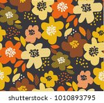 simple free drawn floral... | Shutterstock .eps vector #1010893795