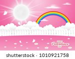 garden pink color with...   Shutterstock .eps vector #1010921758