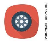 wheel car tire  | Shutterstock .eps vector #1010927488