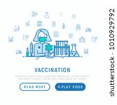 vaccination concept  doctor... | Shutterstock .eps vector #1010929792