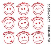 emoticons   face stamp icon set ... | Shutterstock .eps vector #1010940502