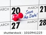 wall calendar with a red pin  ... | Shutterstock . vector #1010941225