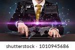 businessman in formal attire... | Shutterstock . vector #1010945686