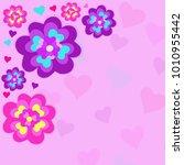 vector illustration valentines ... | Shutterstock .eps vector #1010955442