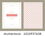 happy valentines day greeting... | Shutterstock .eps vector #1010957638