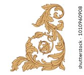 vintage baroque ornament retro... | Shutterstock .eps vector #1010960908