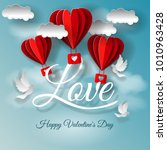 valentine's day illustration....   Shutterstock . vector #1010963428